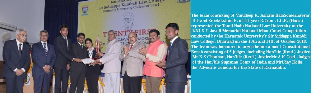 Tamil Nadu National Law University ::  | Home , national law